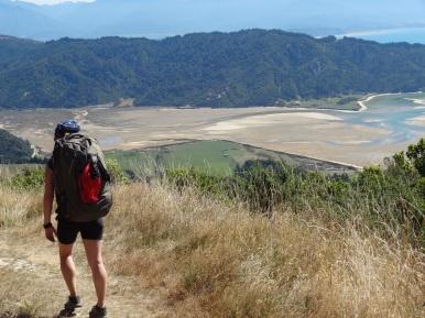 Und der letzte und höchste Hügel auf dem Great Walk (on the way to Gibbs Hill in Abel Tasman)