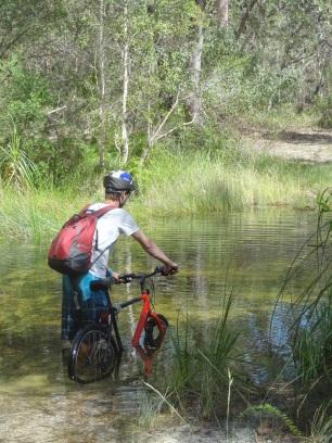 Bike tour on Straddie island