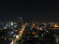 Bangkok skyline from roof top bar
