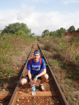 Typical train tracks in Myanmar