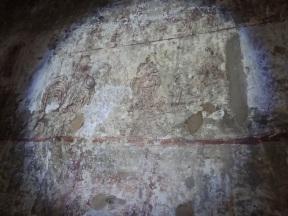 In einigen Tempel sind schöne Fresken erhalten