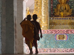 In a temple on Mandalay hill