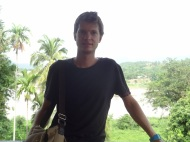 Balkon auf den Mekong