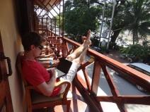 Der vielgerühmte Balkon mit Sicht auf Mekong