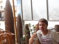 Bombenstimmung im Cafe