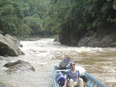 Wildwasserfahrt auf dem Kapuas