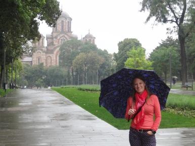 St. Marks Kirche bei Regen