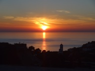 Sunset from our balcony in Ulcinj...