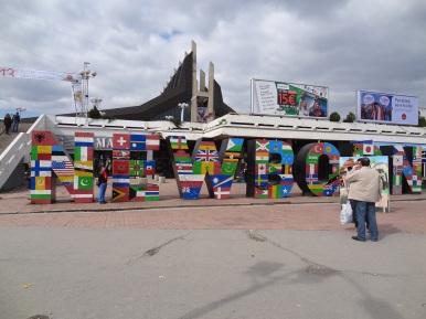 Das Newborn Monument in Pristina für den jüngsten Staat in Europa