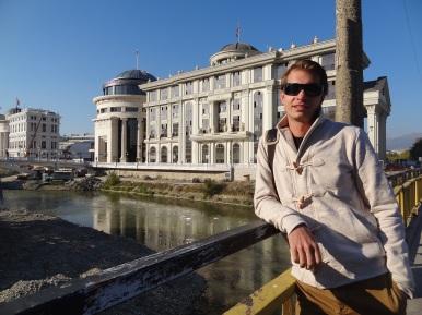 Neubauten in Skopje