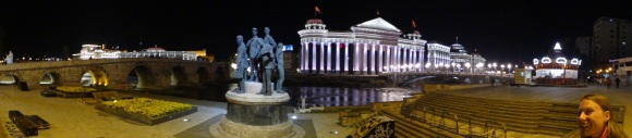 Skopje by night