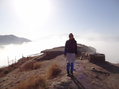 Over the sea of fog