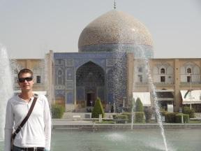 Auf dem berühmten Imam Platz in Esfahan
