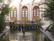 Der Innenhof unseres Hotels in Yazd