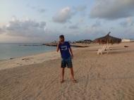 Am Strand (Iles Moucha)