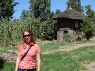 Einfache Hütten im kleinen Lalibela