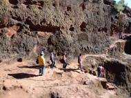 Zwischen den Felsen Lalibelas