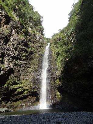 Einer der zig Wasserfällen, die wir uns auf der Road to Hana angeschaut haben