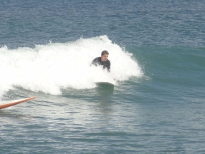 Trying to catch some waves