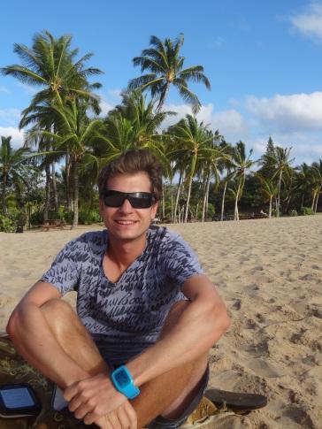 Am wunderschönen Sandstrand auf Lanai