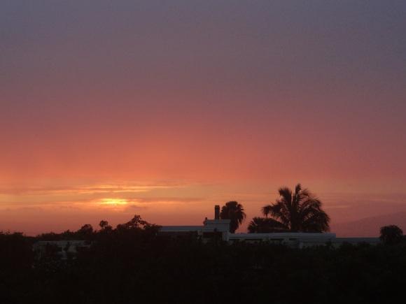 Unser letzter Sonnenuntergang auf Hawaii